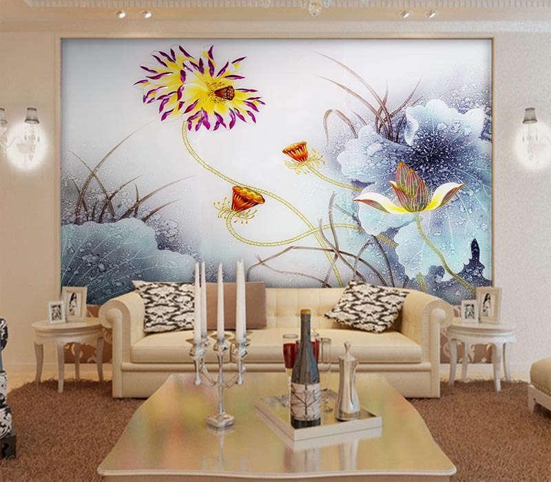 Soft Terrific Lotus 3D Full Wall Mural Photo Wallpaper Printing Home Kids Decor
