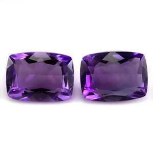 Pair of Amethysts 2.96tcw. Eye clean, matching gems, with a strong purple colour