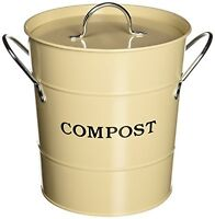 Exaco CPBS 01 1-Gallon 2-in-1 Indoor Compost Bucket, Oatmeal, New, Free Shipping