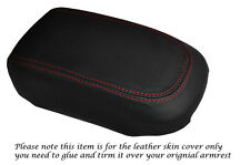 RED STITCH LEATHER ARMREST SKIN COVER FITS MITSUBISHI LEGNUM VR4 GALANT 96-04