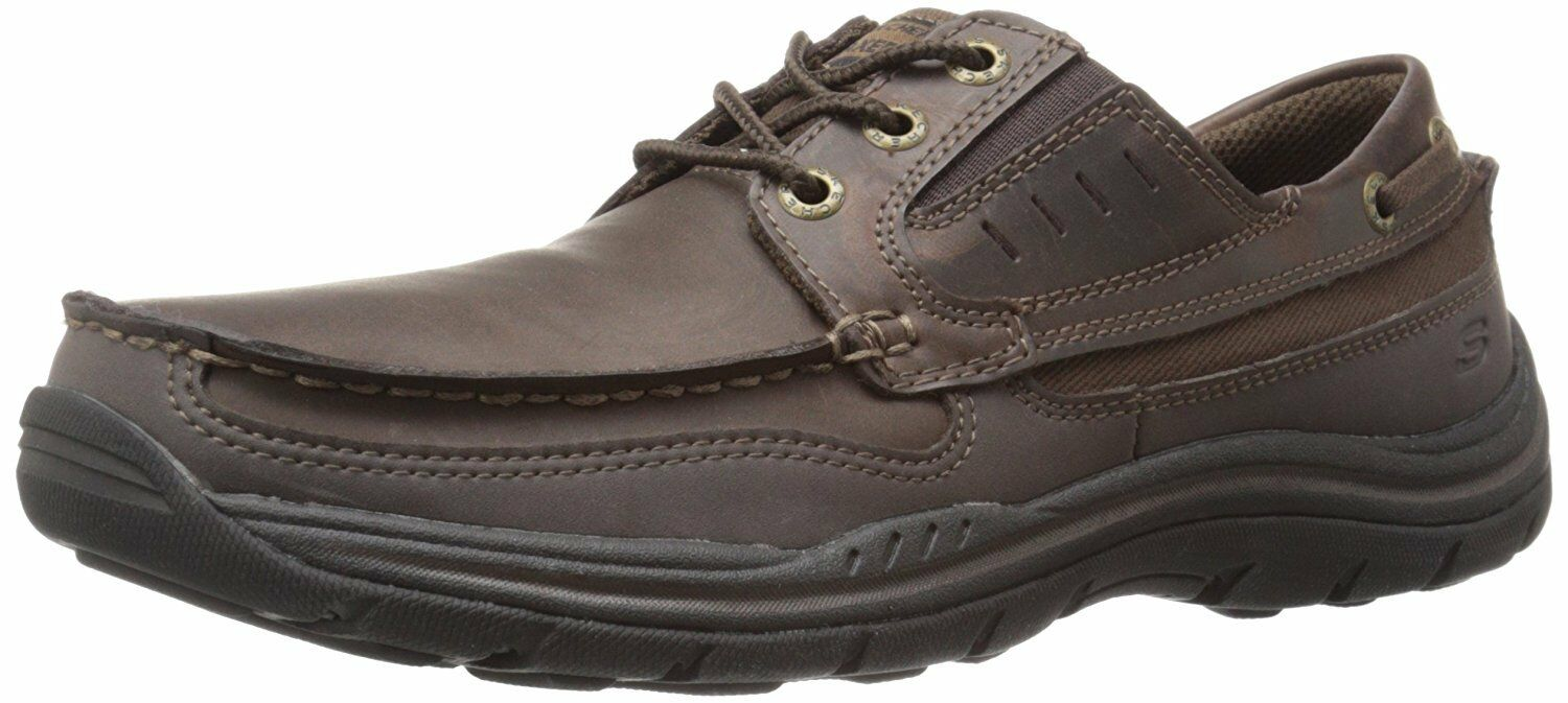 Men's/Women's SKECHERS MENS LEATHER SHOE 64114/DKBR sell Comfortable touch Complete specifications
