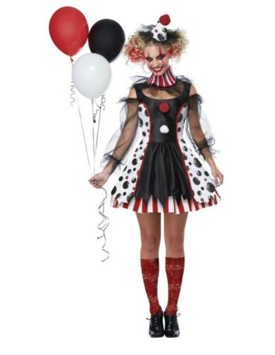 Psycho twisted clown halloween costume