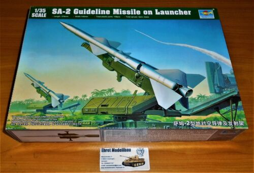 russische SA-2 Guideline Missile w//Launcher Cabin in 1:35 Trumpeter 00206 Neu