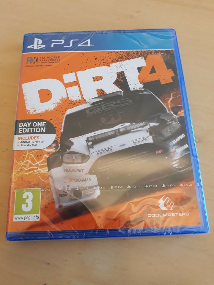 DIRT4, PS4, racing