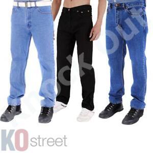 Mens-Raiken-Heavy-Duty-Jeans-Regular-Straight-Denim-Work-Trousers-Pants-Sizes