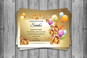 Image Is Loading PERSONALISED BIRTHDAY INVITATIONS PARTY INVITES 18TH 20TH 30TH