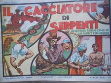 Il Cacciatore di Serpenti 01-02-1935 ed. Nerbini - Ristampa Anastatica [G258]