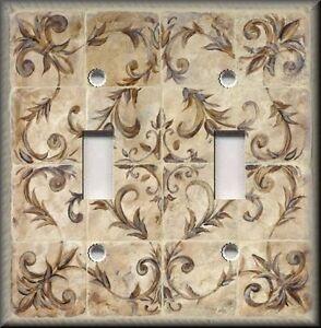 Details About Metal Light Switch Plate Cover Kitchen Decor French Fleur De Lis Tan Decor