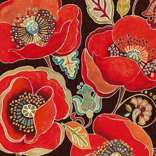 Daphne brissonnet  MAROCCAN rosso IV telaio-Immagine Tela Fiori Landhaus