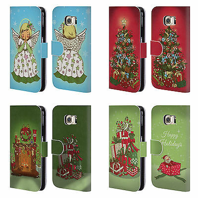 HEAD CASE DESIGNS CHRISTMAS ESSENTIALS LEATHER BOOK CASE FOR SAMSUNG PHONES 1