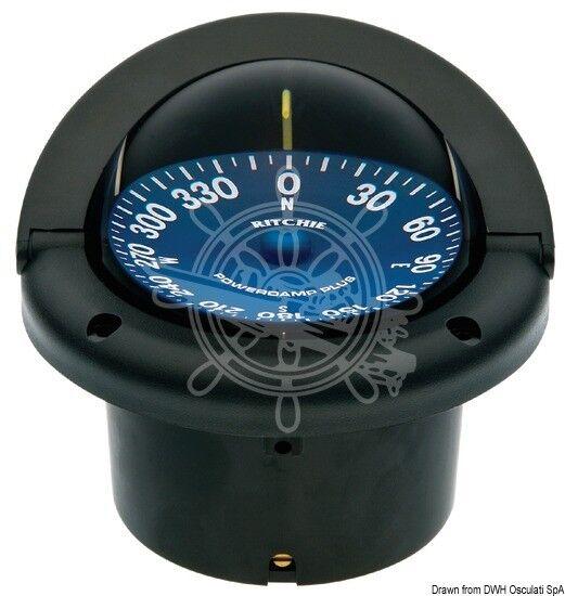 RITCHIE Kompass schwarz/blau Supersport 5 Zoll schwarz/blau Kompass 614853
