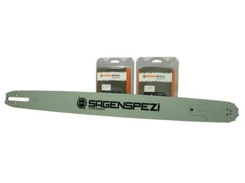 """Schwert 2 Ketten passend für Stihl 07 S 63 cm 404/"""" 80 TG 1,6mm Sägekette chain"""