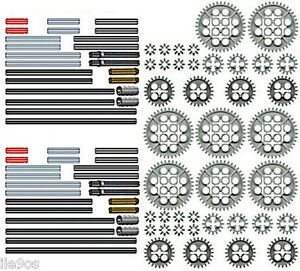 x88-Lego-GEARS-AXLES-Kit-technic-nxt-rcx-mindstorms-robot-motor-cogs-ev3