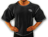 Black Towelling Bodybuilding Clothing Workout Top L-136