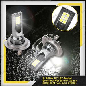 2x-H7-4000LM-LED-Xenon-Nebel-Scheinwerfer-Weiss-Abblendlicht-Fahrlicht-400W-CSP