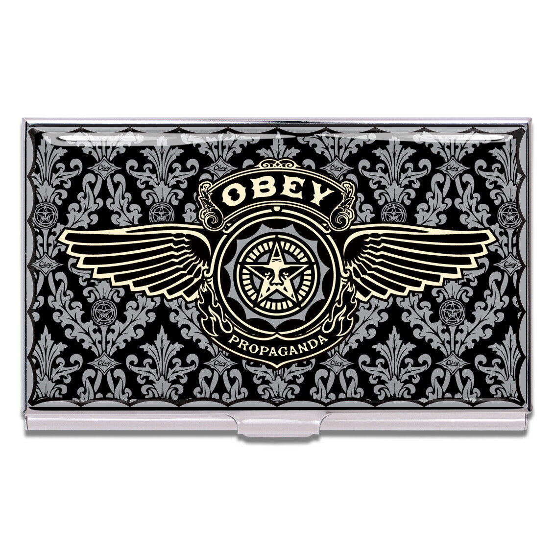 """ACME Studio """"Obey"""" Business Card Case by Shepard Fairey NEW"""