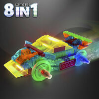 Laser Pegs 8 In 1 Power Block Sports Car 8 Lighted Models Lights Up