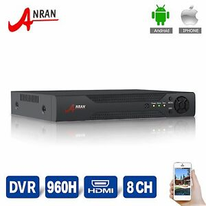 HDMI VGA 8CH DVR 960H Audio Video Recorder For Surveillance CCTV Camera System