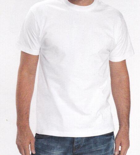100 /% COTON L B /& C Taille LOT DE 10 TEE SHIRT BLANC HAUTE QUALITE