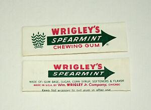Beech-Nut Gum Wrapper Set of 4 1960-70s Fancy Fruit Hot Shot 2 Spearmint Nice