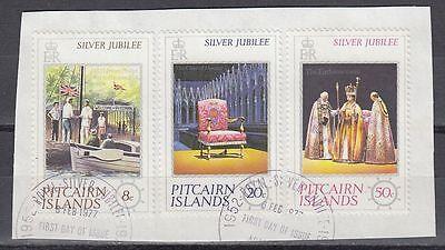 sq7145 Pitcairn 1977 Θ Mi.160/62 Regentschaft Silver Jubilee Queen Elizabeth Ruf Zuerst
