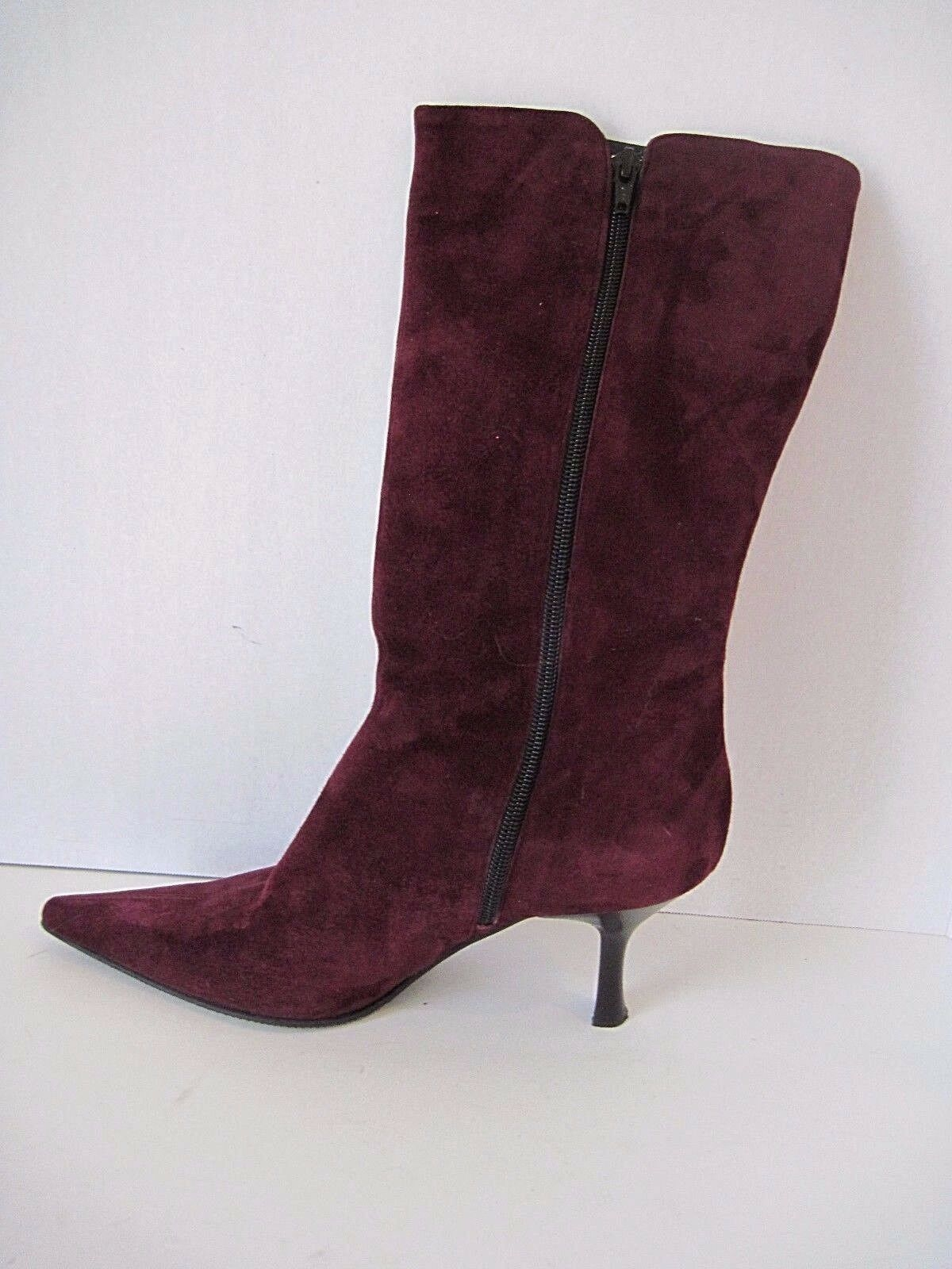 RUSSELL & BROMLEY LONDON PURPLE SUEDE BOOTS SIZE ZIP SIZE 39 ITALY