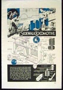 Sidewalk-Locomotive-Pedal-Car-1937-How-To-build-PLANS-original-vintage