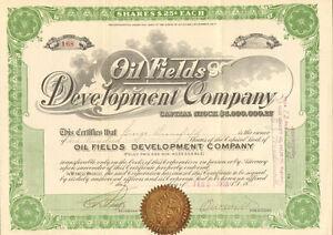 Oil-Fields-Development-Company-gt-1918-Arizona-stock-certificate-share