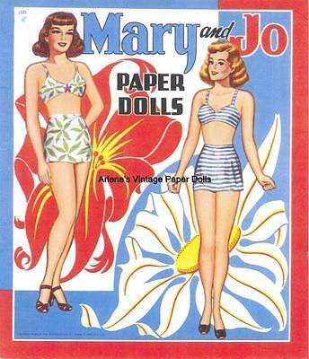VINTAGE UNCUT 1960S BRIDE /& GROOM PAPER DOLLS ~SAALFEILD~ORG SZ~LASR REPRODUCTIO