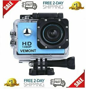 Vemont Action Camera 1080P 12MP Sports Camera
