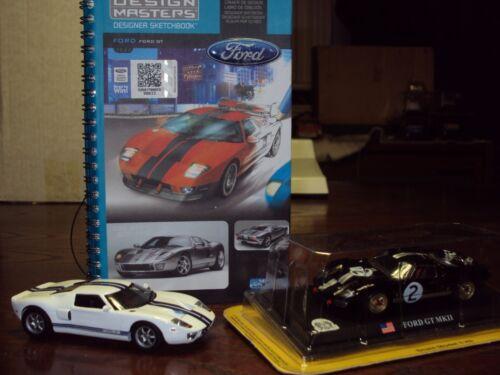 FORD GT40 Voiture Design Masters Sketchbook 1:43 Noir GT MkII NEUF Blanc FORD GT