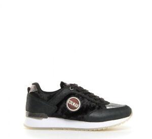 Dettagli su Sneakers Donna Colmar Originals Travis Velvet Scarpe Pelle Velluto Nere Nuove
