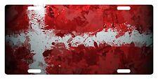 DENMARK Flag Custom License Plate  Emblem PAINT Version
