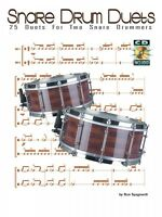 Snare Drum Duets 25 Duets For 2 Snare Drummers Percussion Book And Cd 006620072