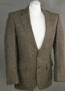 AQUASCUTUM-Woven-100-Wool-BLAZER-TAILORED-JACKET-Size-36-REG-36-034-Chest
