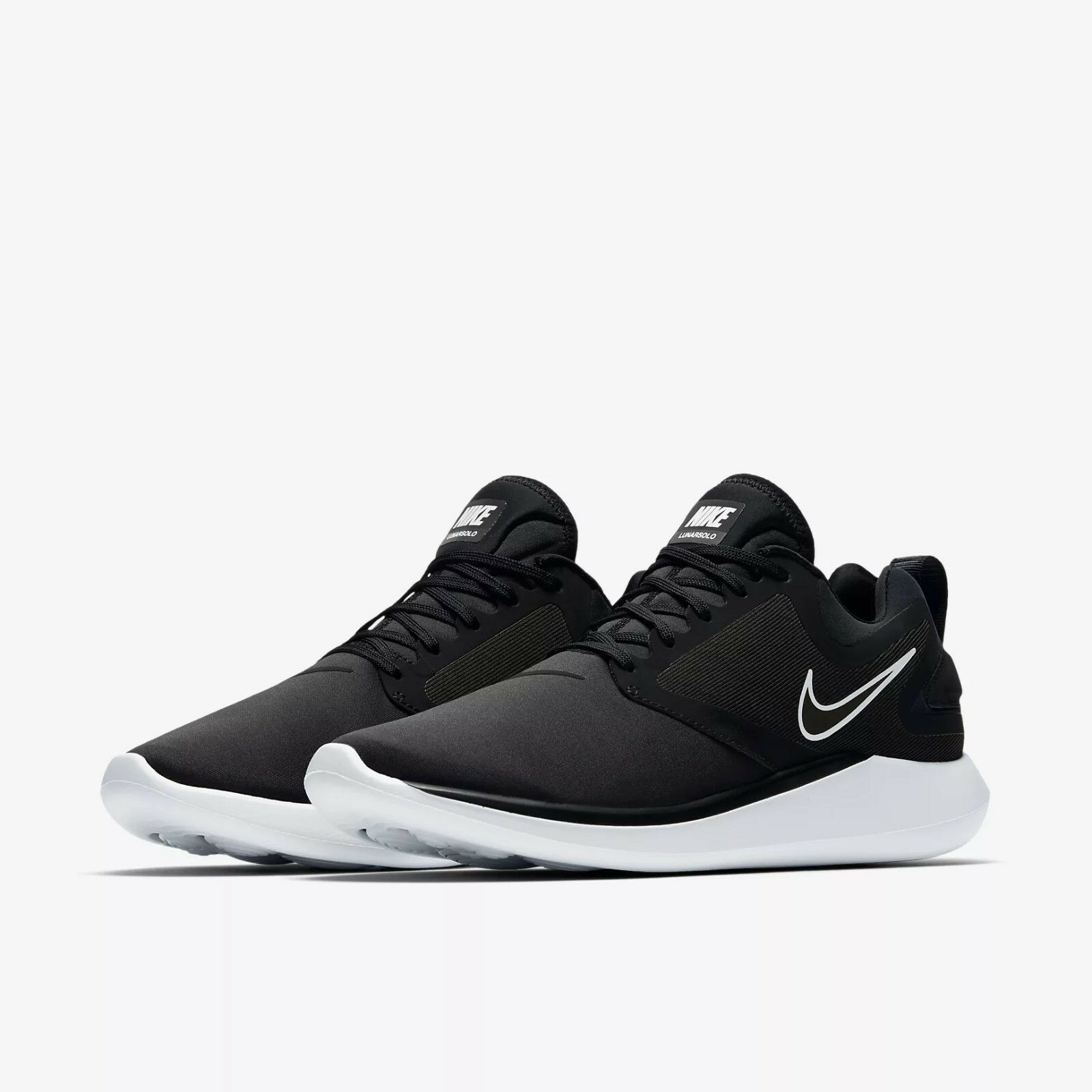 Men's Nike Lunarsolo Running Shoes Black/White NIB 8-New In Box AA4079-001
