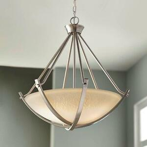 Home Decorators Collection 3 Light Brushed Nickel Foyer Pendant Ebay