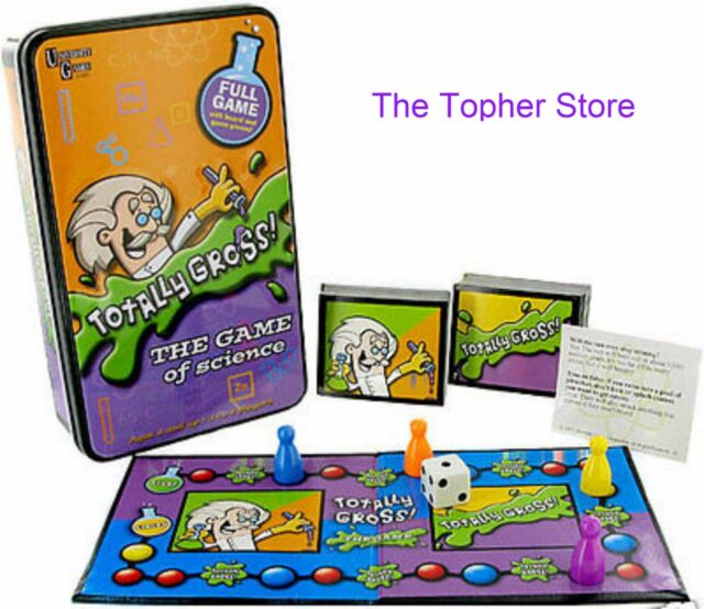 NEW University Games Totally Gross Game of Science Kids Educational Learning Tin