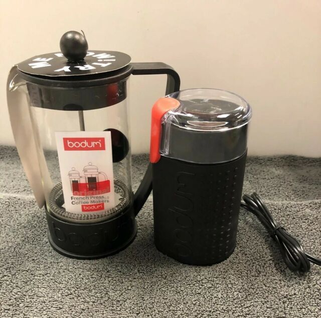 Bodum Bistro Black Electric Coffee Grinder & French Coffee Maker New Other