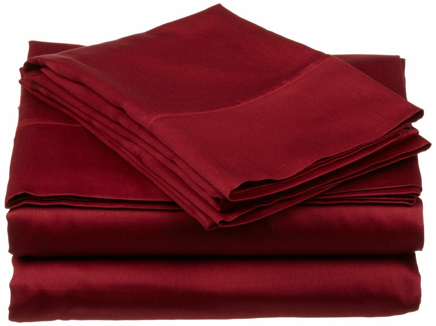 USA Bedding Item 100% Cotton 400-TC Burgundy Solid Wrinkle Free All Size