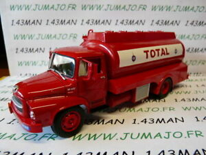 CAM14D CAMIONS 1//43 altaya IXO UNIC M257 citerne TOTAL