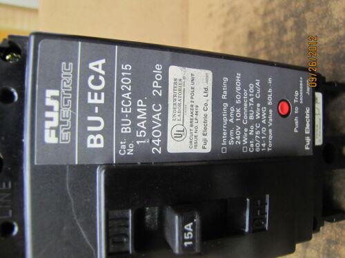Fuji Electric Circuit Breaker BU-ECA2015 BUECA2015 15A 15 A Amp 240VAC 2P Used