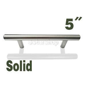 5-034-Brushed-Nickel-Kitchen-Cabinet-T-Bar-Pull-Handle-Knob-Hardware-6-95-Shipping