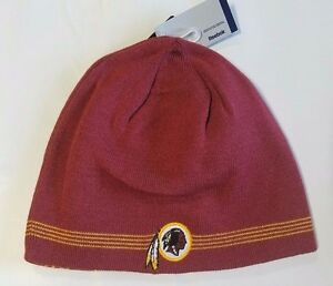 696d8e11a Details about Washington Redskins Knit Beanie Winter Hat Toque Skull Cap  NEW 4 thin stripe REV