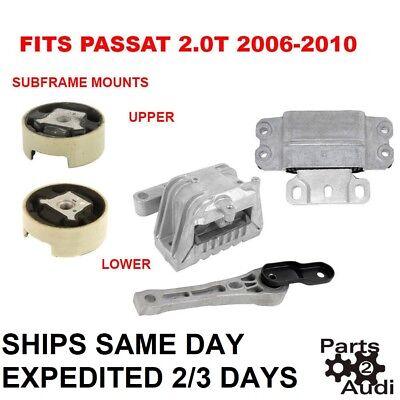 Engine Motor Mounts Auto Transmission Mount w Subframe Mounts 2.0T Passat 06-10