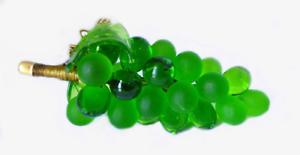 Large Green Murano Glass Grape Cluster