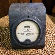 Vintage Ge General Electric Time Hobbs Meter Model No 8kt8e3y 110v 60 Cycle