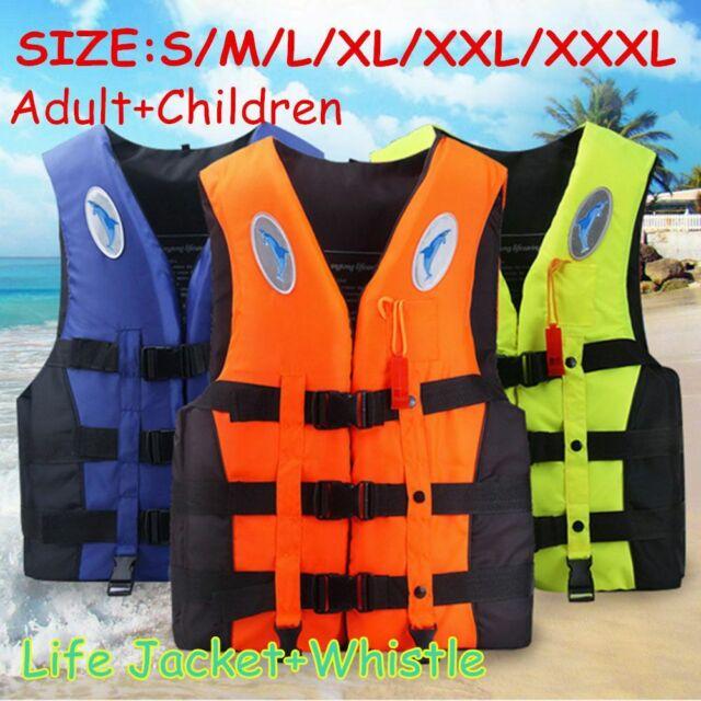 Adults Kids Life Jacket Swimming safety Floating Kayak Buoyancy Aid Vest S~XXXL