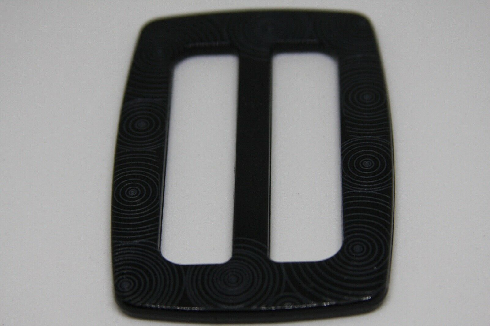 Woman`s black, Plastic, Italy, belt buckle