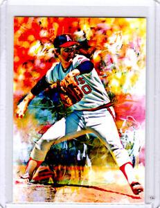 2021 Nolan Ryan California Angels Baseball 1/1 ACEO Fine Art Print Card By:Q